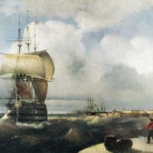 Большой рейд в Кронштадте. 1836 год.