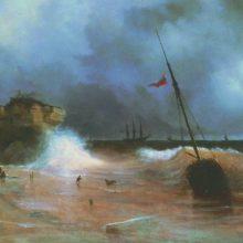 Конец бури на море. 1839 год.