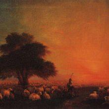 Овцы на пастбище. 1850 год.