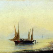 Баржи у морского берега. 1834 год.