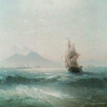 Неаполитанский залив. Вид Везувия. 1879 год.