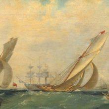 Фрегат на море. 1838 год.