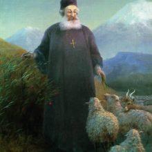 Католикос Хримян Айрик в окрестностях Эчмиадзина. 1895 год.