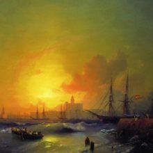 Малага. Морской пейзаж. 1854 год.