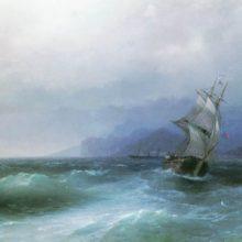 Парусник в море. 1884 год.