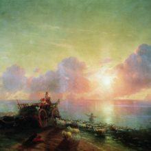 Купание овец. 1878 год.