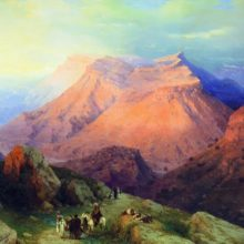 Айл Гуниб в Дагестане. Вид с восточной стороны. 1869 год.
