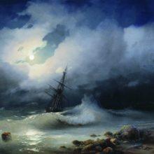 Бурное море ночью. 1853 год.
