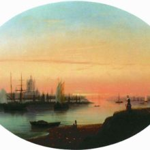 Смольный монастырь. Закат солнца. 1847 год.