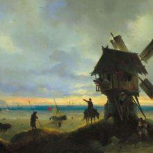 Ветряная мельница на берегу моря. 1837 год.