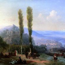Вид Тифлиса. 1869 год.