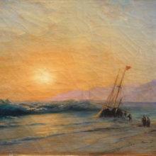 Заход солнца на море. 1898 год.