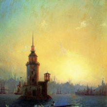 Вид Леандровой башни в Константинополе. 1848 год.