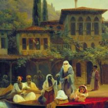 Восточная сцена (В лодке). 1846 год.