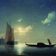Гондольер на море ночью. 1843 год.