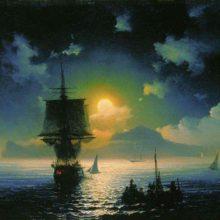 Лунная ночь на Капри. 1841 год.