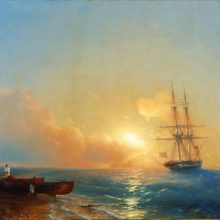 Рыбаки на берегу моря. 1852 год