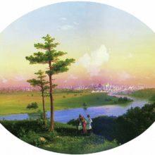 Вид на Москву с Воробьевых гор. 1848 год.