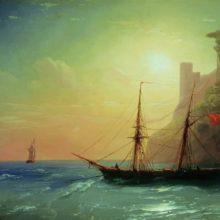 Берег моря. 1861 год.