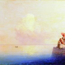 Штиль на море. 1879 год.