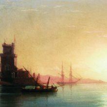 Лиссабон. Восход солнца. 1860-е год.