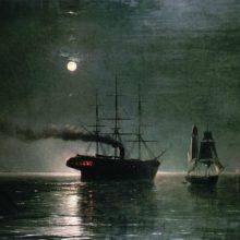 Корабли в ночной тишине. 1888 год.
