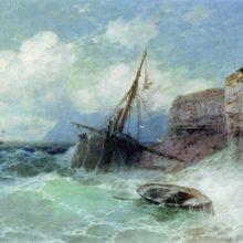 Буря на море. 1880 год.