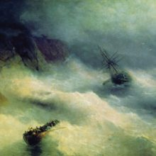 Буря у мыса Айя. 1875 год.