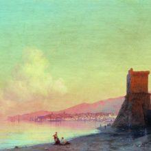 Феодосия. Восход солнца. 1852 год.