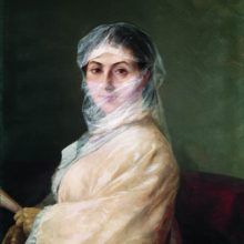 Портрет жены художника Анны Бурназян. 1882 год.