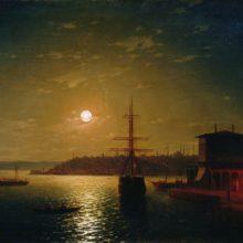 Бухта Золотой Рог. Турция. 1845 год.