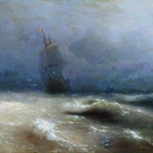 Буря у берегов Ниццы. 1885 год.