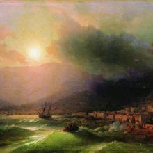 Приморский город. Вид Ялты. 1866 год.