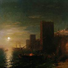 Лунная ночь в Константинополе. 1862 год.