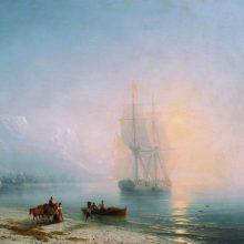 Спокойное море. 1863 год.