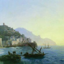 Вид Амальфи. 1865 год.