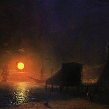 Феодосия. Лунная ночь. 1852 год.