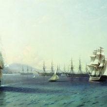 Черноморский флот в Феодосии. 1890 год.
