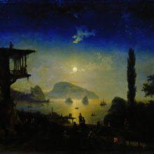 Лунная ночь в Крыму. Гурзуф. 1839 год.