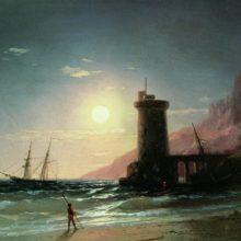 Морской пейзаж при луне. 1849 год.