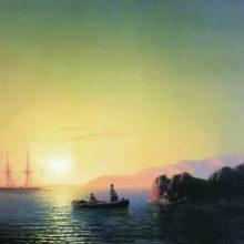 Закат солнца у крымских берегов. 1856 год.