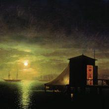 Лунная ночь. Купальня в Феодосии. 1853 год.