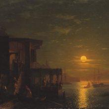 Лунная ночь на море. 1875 год.