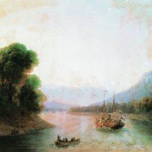 Река Риони. Грузия. 1870 год.