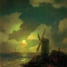 Мельница на берегу моря. 1851 год.