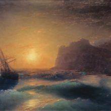 Морской пейзаж. Коктебель. 1889 год.