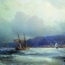 Трапезунд с моря. 1856 год.