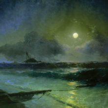 Восход луны в Феодосии. 1892 год.