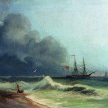 Море перед бурей. 1856 год.