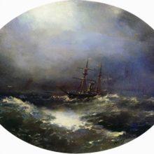 Морской вид. 1900 год.